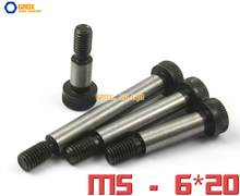 10 Pieces M5 Threaded 6x20mm 12.9 Kelas Alloy Steel Hexagon Socket Kepala Shoulder Screw Bolt(China)