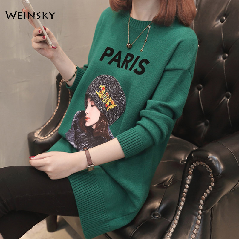 Women Knitted Sweater And Pullovers Full Sleeve Korean Fashion Style  Long Sweaters Winter And Autumn 2019 New Casual Sweater
