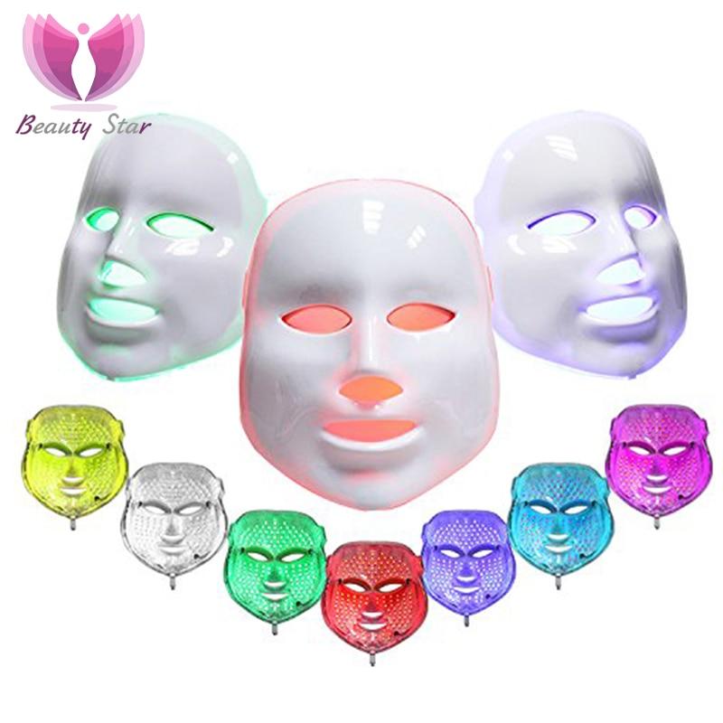 7 Colors Light Photon Electric LED Facial Mask Skin PDT Skin Rejuvenation Anti Acne Wrinkle Removal