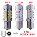 1156PY BAU15S PY21W Lâmpadas LED Com Projetor 7.5 W 7507 Âmbar Amarelo Branco Vermelho Auto Brake Vire Lâmpadas de Luz De Backup 12 V