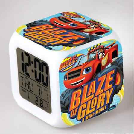 Blaze en de Monster Machines LED Digitale Wekker Horloge reloj despertador de cabeceira horloge digitale Kinderen Speelgoed Geschenken
