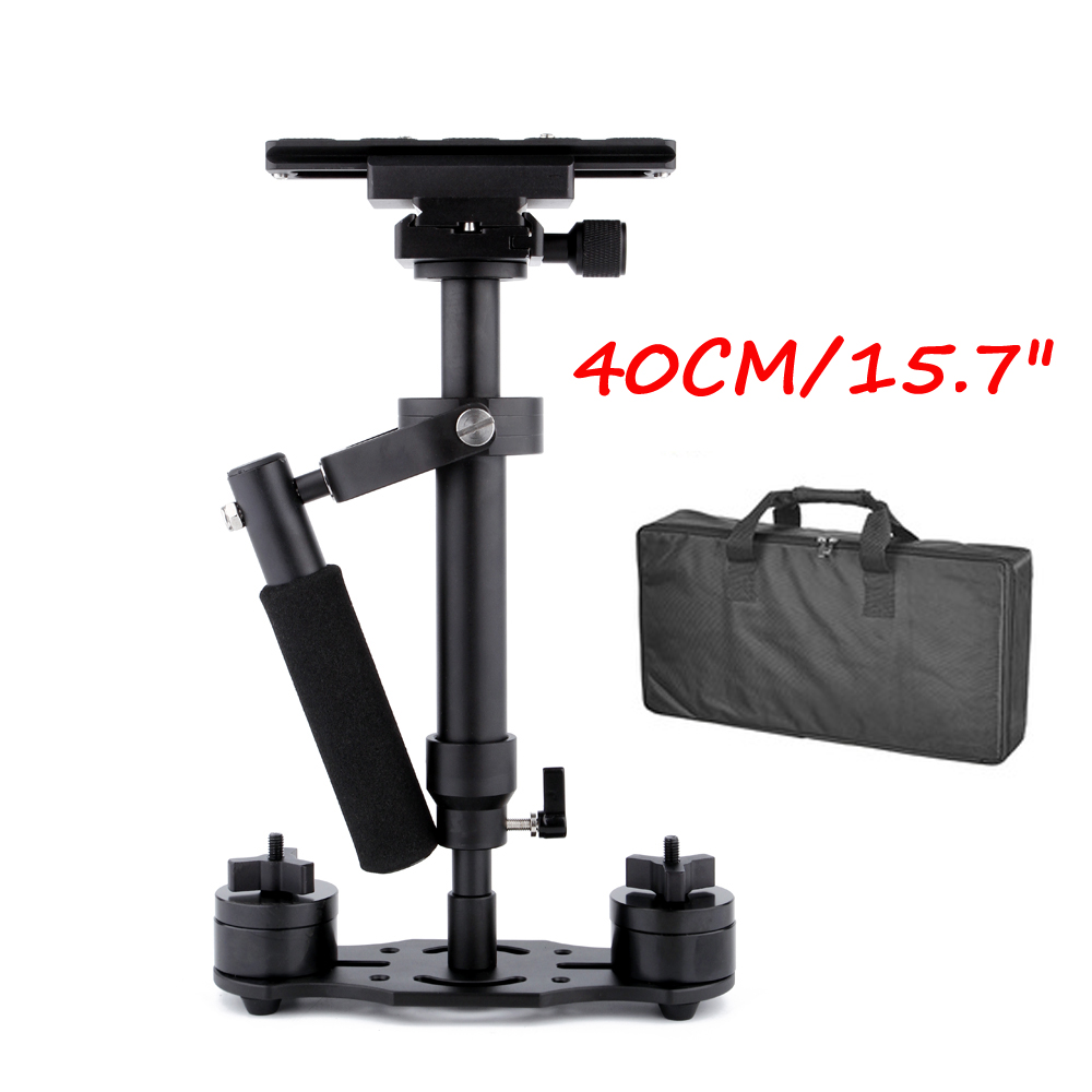 40cm/15.7'' Steadycam S40 Steadicam load 1.3kg Handheld Stabilizer + Bag for Camcorder Camera DSLR Canon Nikon Gopro Video DV s40 40cm professional carbon fiber mini dslr video camera dv camcorder stabilizer steadycam steadicam for canon sony nikon gopro