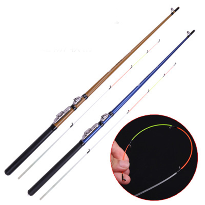 Soft Tail Raft Rod 1.3/1.5/1.8m 2 Segment Cuttage Grafting Fishing Rod Throwing Pole Two Color
