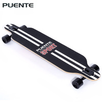 PUENTE Fashionable Long Skateboard Four wheel Roller Scooter Travel Tools Skate Board Longboard 6 Colors