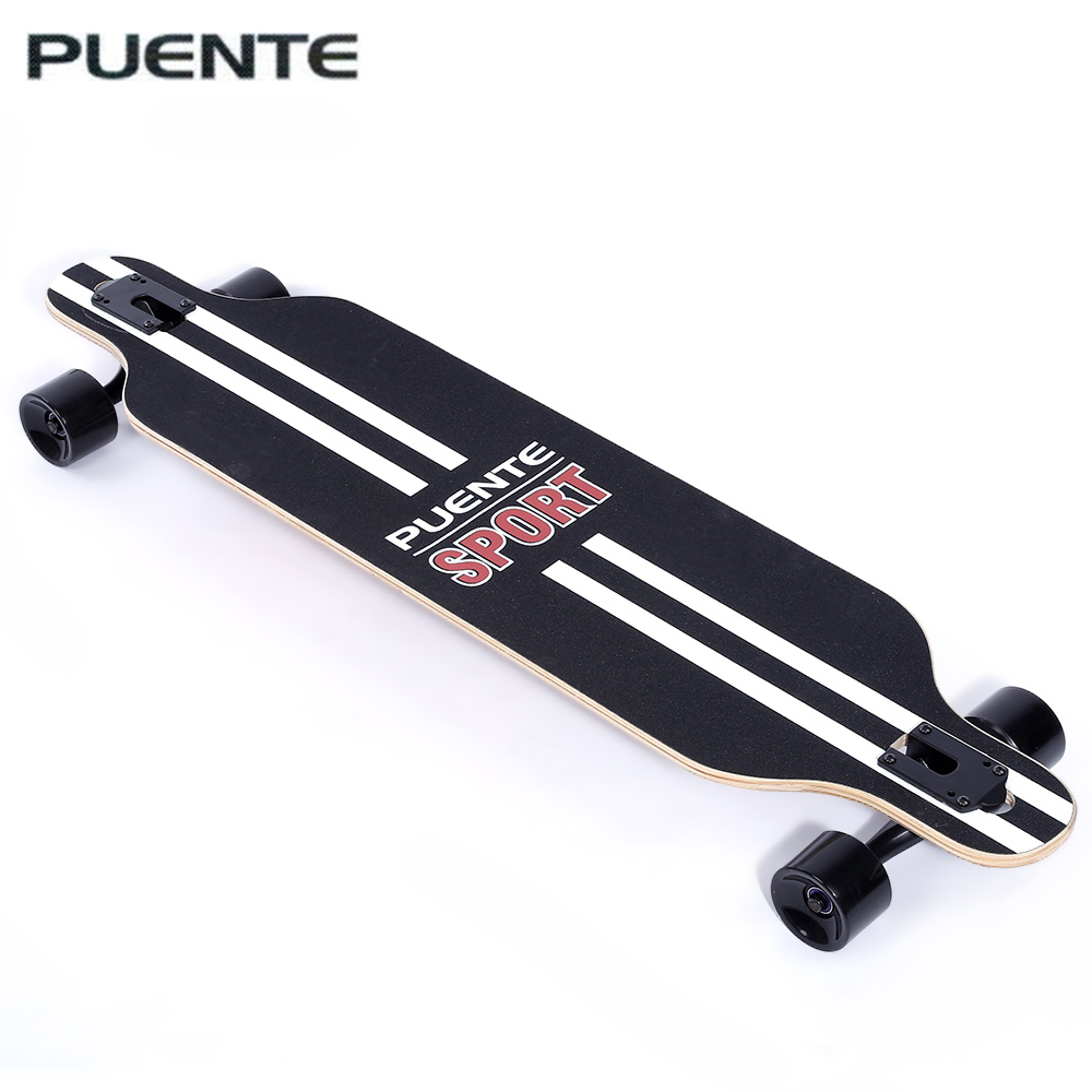 PUENTE Fashionable Long Skateboard Four wheel Roller Scooter Travel Tools Skate Board Longboard 6 Colors