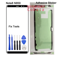 1Pcs Original For Samsung Galaxy Note8 Note 8 Front Glass 6 3 Touch Screen Top Lens