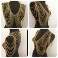 2015 Nuevos de la Aleación de Múltiples Capas de La Borla Collar de Estilo Clásico Joyería Collar Llamativo Cadena Cuerpo Cadena Del Hombro Para Las Mujeres BY69