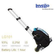 1 a 5 litros por minuto G1 Lovego concentrador de oxígeno portátil con un oxímetro