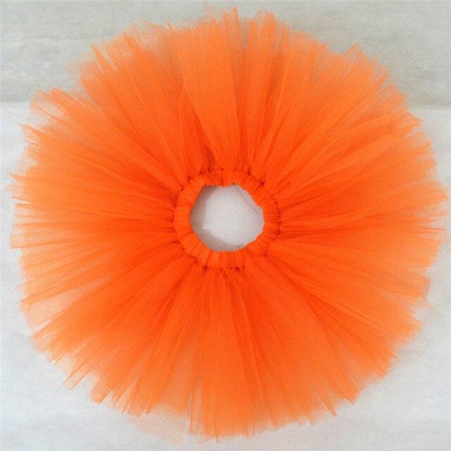 0a4d4d34d2 Jupe Fille Moda Naranja Niñas Bebés Tutú de Tul Falda de Los Niños del  Verano Niño