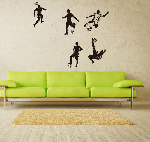 home decor wall decal sport wall stickers for kids room sport boy bedroom mural wallpaper football