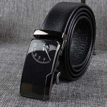 Cowhide leather high quality black strap luxury pin buckle fashion classic belt jeans casual business