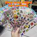 SST* 1 Sheet 'Randomly cartoon' Kawaii Diary Decoration Kids Toys Stickers Transparent PVC Stationery kindergarten Gift Award +