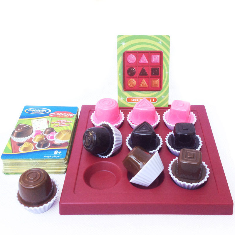 1 Box Chocolate Chess Game 40 Types Logical Reasoning Spatial Thinking Board Game Brain Teaser Logic Game