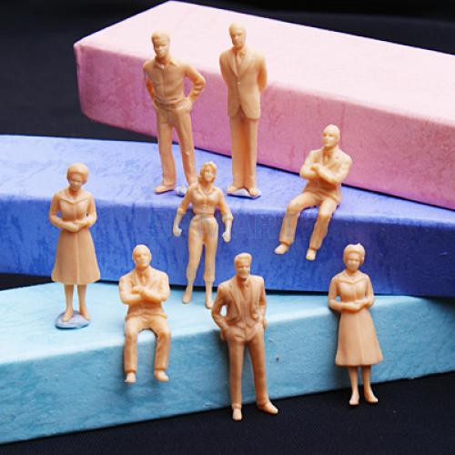 100pcs Unpainted Model Train People Figures Scale O (1 to 50) b546 o to 220