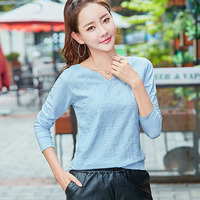 BOBOKATEER Long Sleeve Shirt Women Blouses Cotton Shirts Blusas Embroidery Blouse Ladies Tops Camisas Femininas Manga
