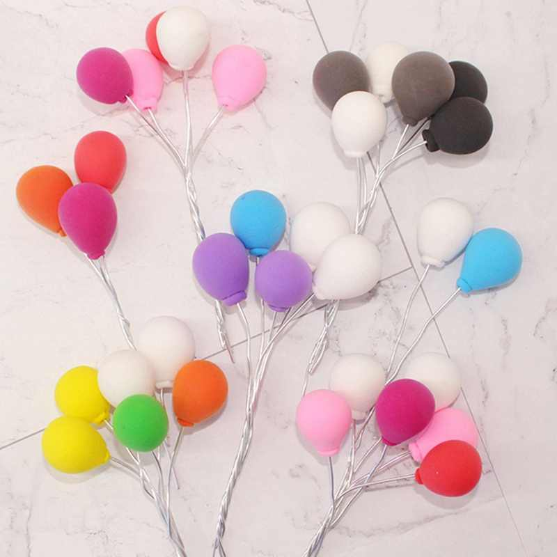 1 Pcs Colorful Balloon Cake Decoration  Angel Wing Balloon Cake Topper For Party Decoration Dessert Lovely Gifts