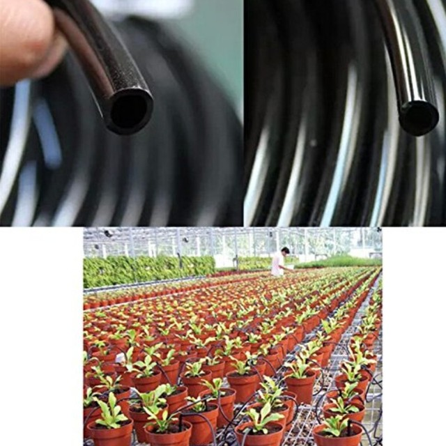25M 4 / 7MM Greenhouse Gardening Irrigation Automatic Watering Pipe Fittings Accessories Automatic watering accessories