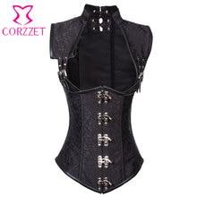 Vitange Halter Steampunk Corsets and Bustier Waist Training Steel Boned Plus Size  Burlesque Costume Gothic Underbust Corsetto