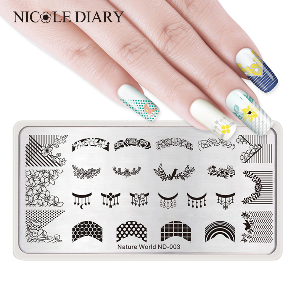 The Nail Art And Beauty Diaries: NICOLE DIARY 1 Pc Nature World Series Stamping Template