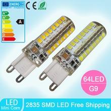 10pcs mini G9 led bulb  5W  64leds-smd 2835 silicone led corn bulbs Warm White/Cool White 360 Degree Spot Lights 220V цена в Москве и Питере