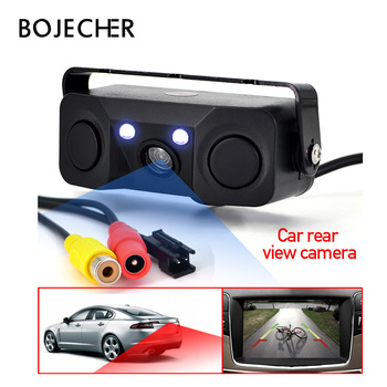 цена на 3 in 1 Auto Parktronic LED Car Parking sensor Rear View Camera Car Parking Radar Reverse Backup with 2 Sensors Monitor Detector