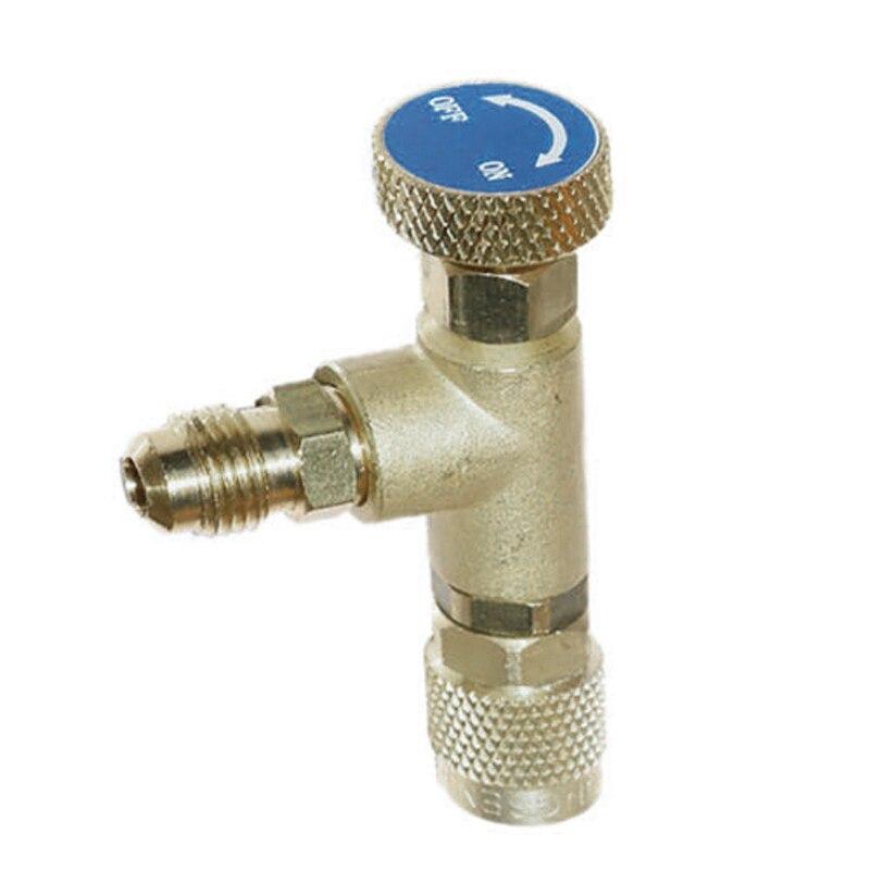 1/4 ''-1/4'' Flow Control Ventil für Kältemittel Lade Schlauch R22 R404A R407C UK