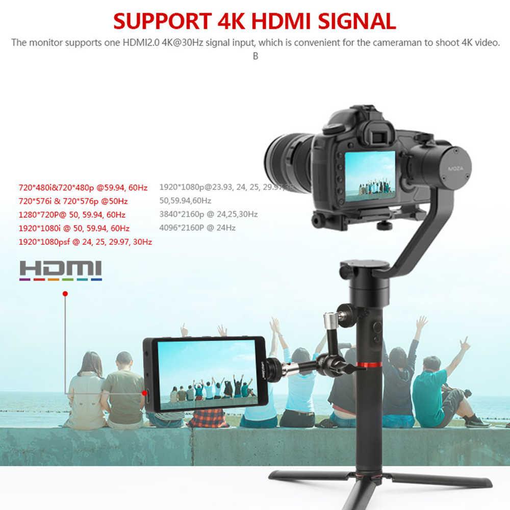 Bestview S5 5.5 inch 4K HDMI Full HD On Camera Field Monitor with 360 Degree Swivel Arm for Zhiyun Crane 2 DJI Ronin Gimbal Shooting with Histogram Zebra False Colors