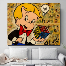 Alec Monopoly Richie Canvas Painting Print Living Room Home Decoration Modern Wall Art Oil Posters Pictures Framework
