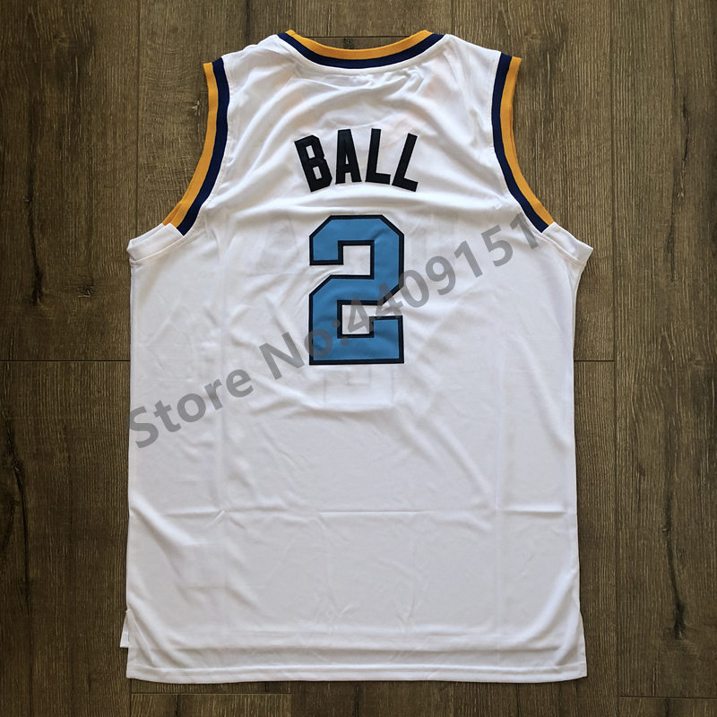 973c6c9b836 New Lonzo Ball  2 UCLA Bruins College Basketball Jersey Stitched S ...