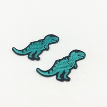 100pcs Wholesale Dinosaur Iron on Patches Embroidery Patch DIY Craft Badge Sewing Accessoires Appliques 35x50mm