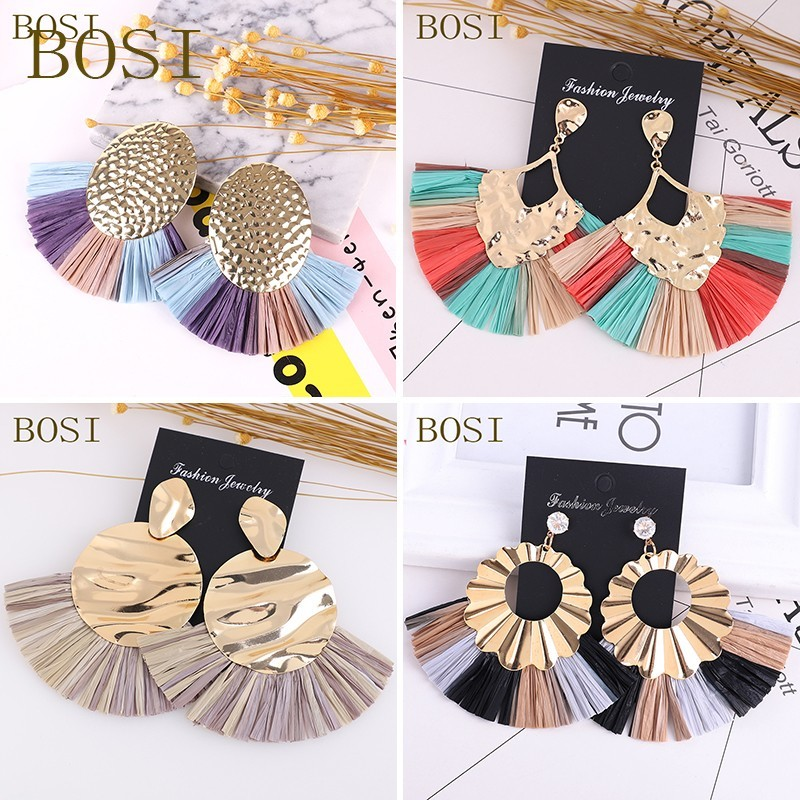 Tassel Earrings For Women 2019 Bohemian Luxury Big Long Dangle  Earings African Statement Handmade Geometric Fringe Fashion Face