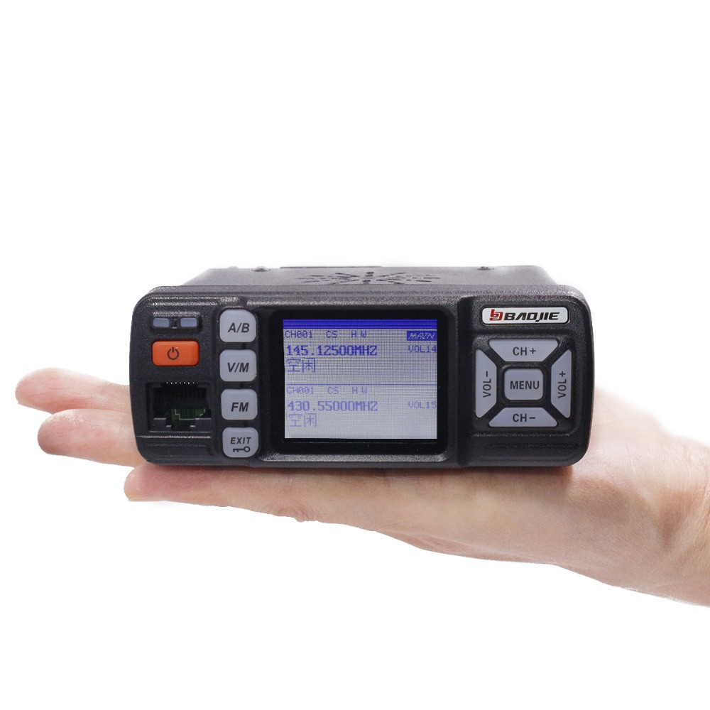 Baojie BJ-318 Mini Mobile Radio Voiture 20 km longue portée Talkie Walkie 25 w Double Bande VHF/UHF Station mise à niveau de bj-218