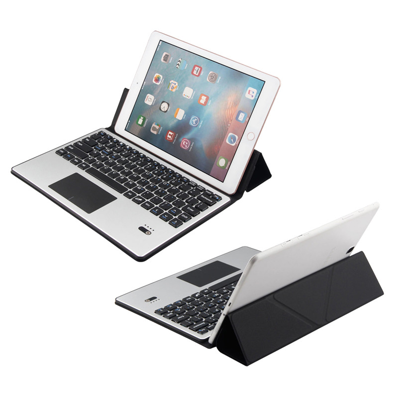 Factory price 9.7-10.1 inch Universal Bluetooth Keyboard Leather Case Cover With touchpad Sept16