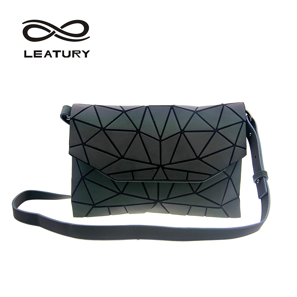 LEATURY 2017 Women Messenger Bag Flap Bags Fashion Fold over Diamond  Lattice bag for Female Folding Shoulder Crossbody Bag Purse a81bb859d39ec