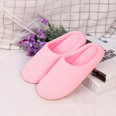 027 Memory sponge autumn and winter Japanese Korean indoor soft bottom non slip silent floor home shoes men and women couple co