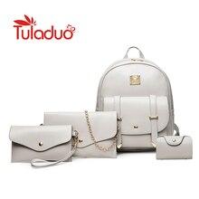 3 компл. женщин Рюкзаки модная однотонная школьная сумка для девочек-подростков Высокое качество искусственная кожа Винтаж Водонепроницаемый рюкзак Дорожные сумки