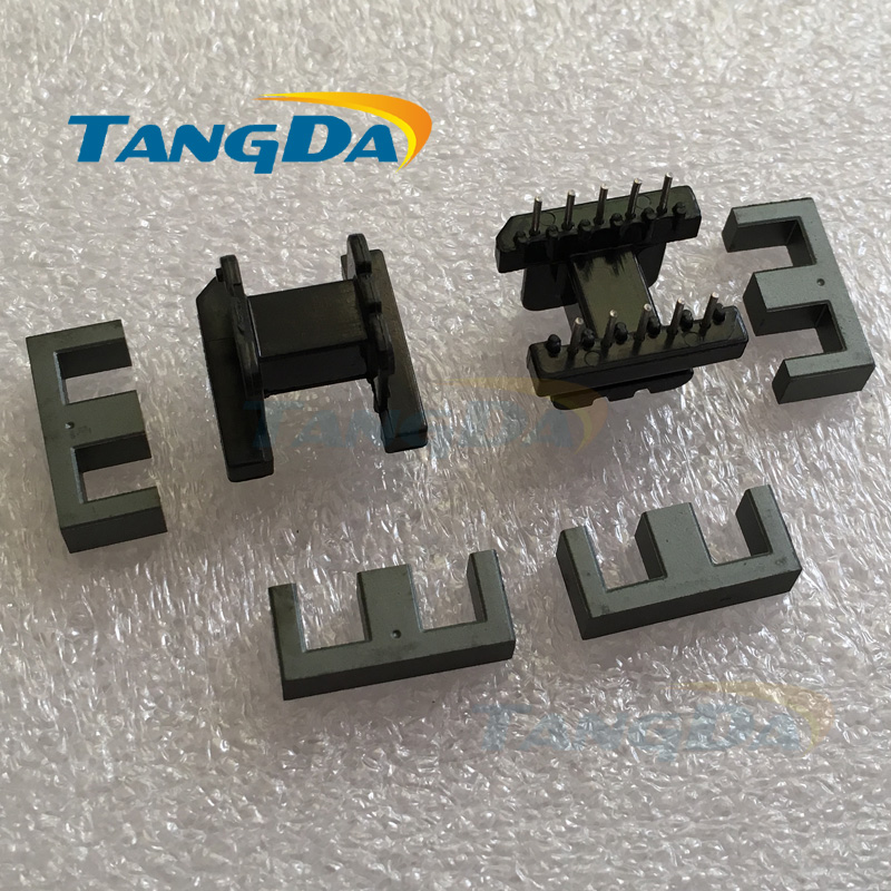 Tangda EE19 core EE Bobbin magnetic core + skeleton soft magnetism ferrites magnetic core 5+5pin 10P SMPS RF Transformers A.