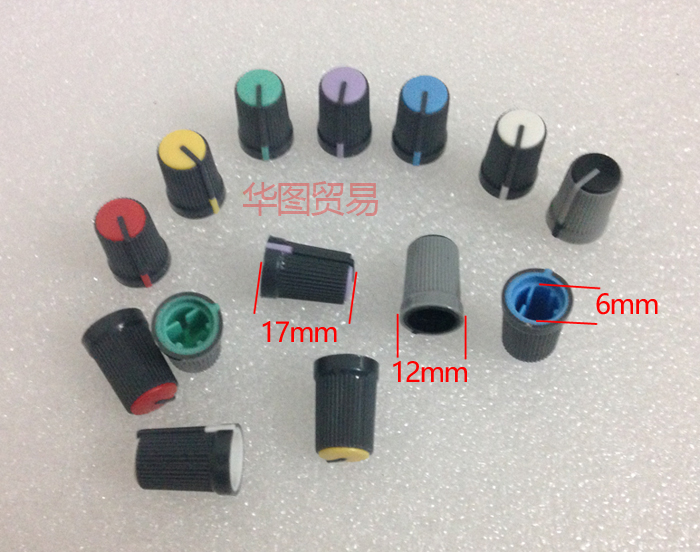 7pcs Soundcraft LX7 Mixer Potentiometer Knob Cap Switch Knob Cap / D Hole / Half-axis Rotary Potentiometer Knobs Caps