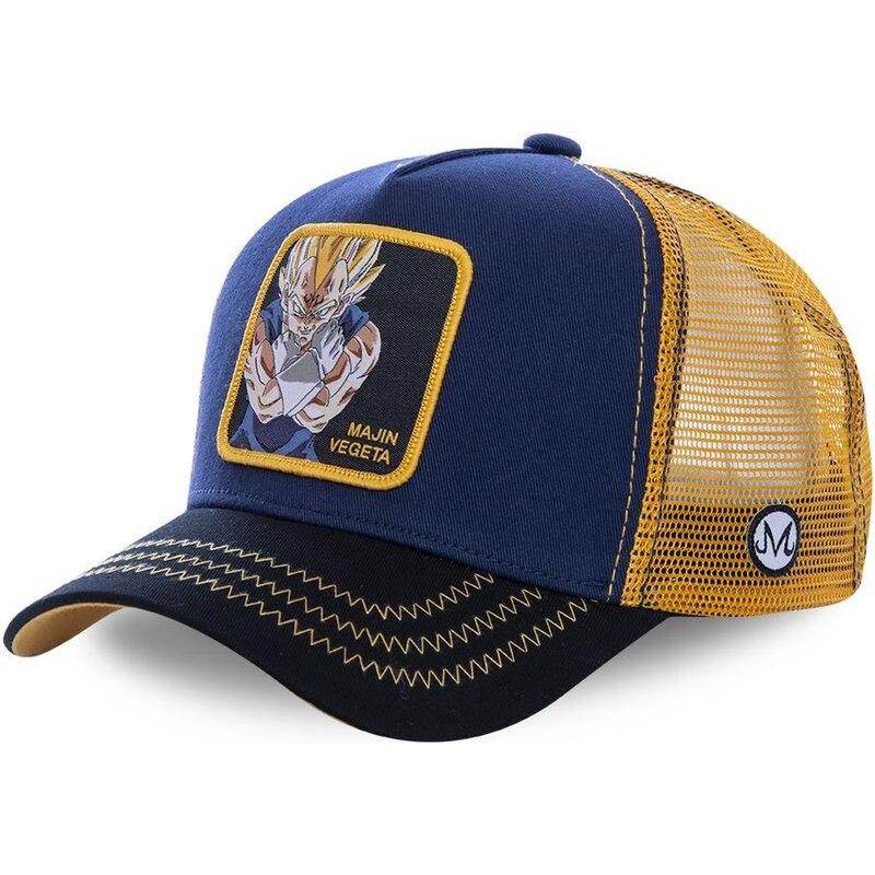 Dragon Ball New Brand MAJIN VEGETA Snapback   Cap   Cotton   Baseball     Cap   Men Women Hip Hop Dad Hat Trucker Mesh Hat Dropshipping