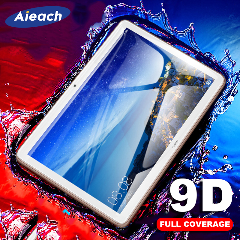 9D Curved Edge Tempered Glass For Huawei MediaPad M5 Lite Pro M6 10.8 8.4 M3 Lite 10.1 8 Screen Protector For MediaPad T5 T3 10