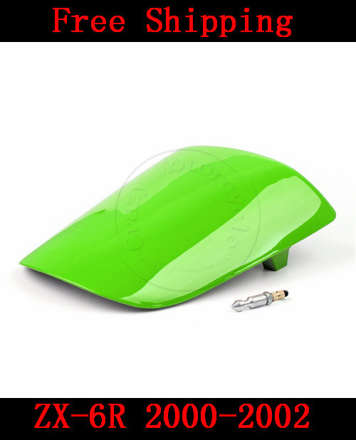 For Kawasaki ZX6R ZX 6R 2000-2002 motorbike seat cover Brand New Motorcycle Green fairing rear sear cowl cover Free Shipping H40 for honda cbr600rr 2007 2008 2009 2010 2011 2012 motorbike seat cover cbr 600 rr motorcycle red fairing rear sear cowl cover