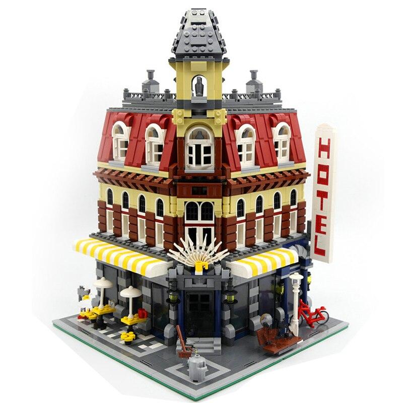 Lepin 15002 Craetor Cafe Corner Model Building Kits Blocks Bricks Toy Compatible with Legoingly 10182 for Chidren Diy Gifts