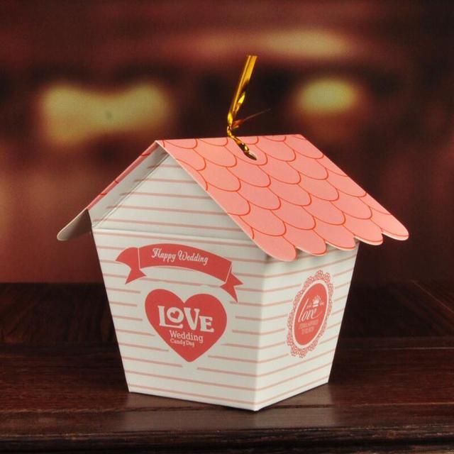 30 Teile/los Kleines Haus Design Papier Box Kreative Hochzeit  Pralinenschachtel Hochzeitsgeschenke Für Die Gäste