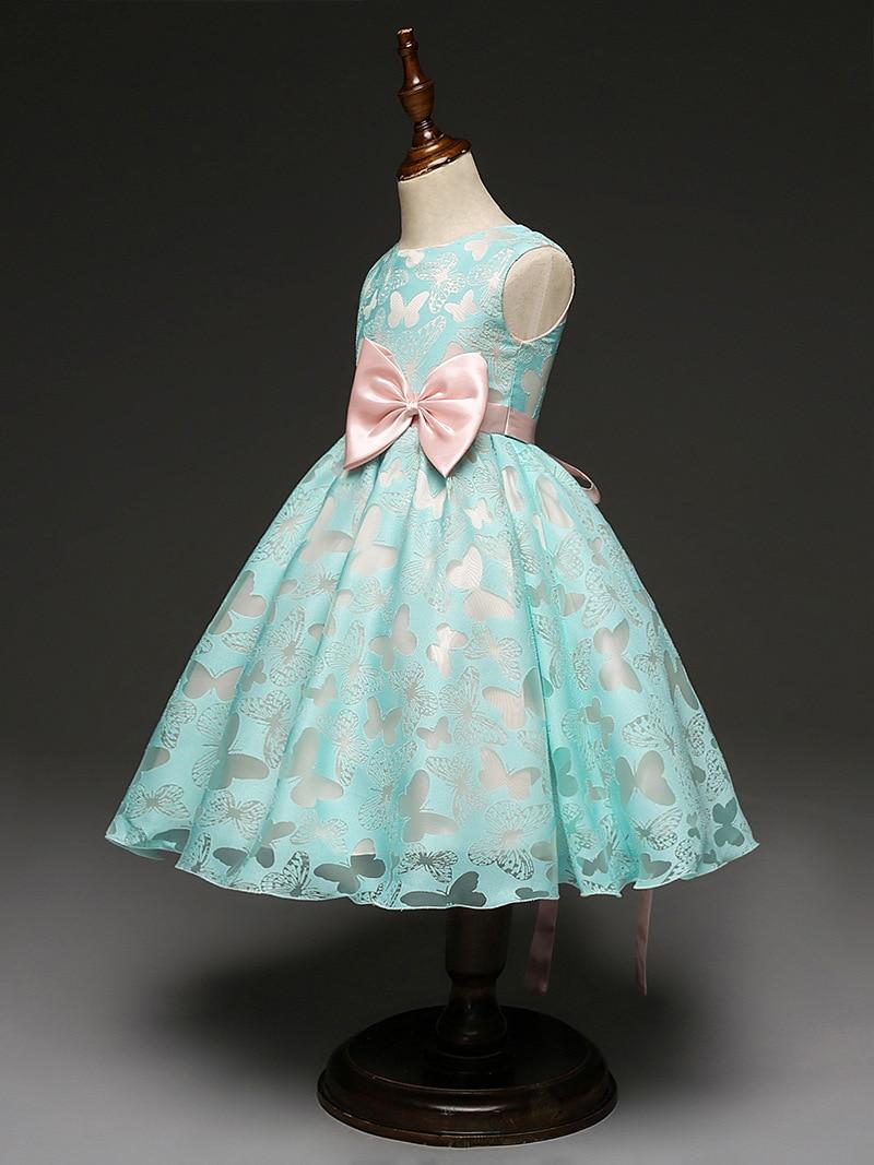 Mädchen Kleid Blau Schmetterling Bogen Baby mädchen kleider kleid ...