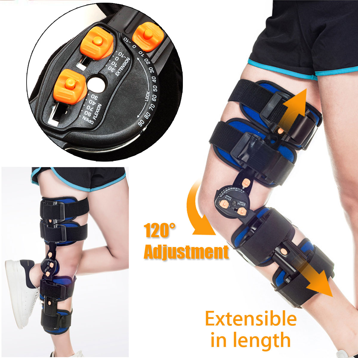 KIFIT Professional T-Scope ROM Post Op Knee Brace Adjustable Hinged Leg Universal Size Braces & SupportsKIFIT Professional T-Scope ROM Post Op Knee Brace Adjustable Hinged Leg Universal Size Braces & Supports