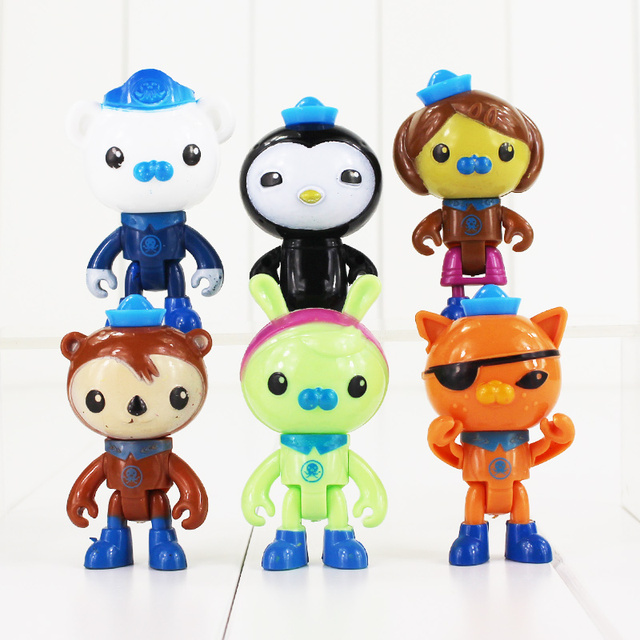 6pcs/lot Cartoon The Octonauts Figure Toy Captain