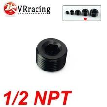 VR RACING-1/2″ NPT Pipe Thread Allen Socket Plug black npt plug VR-SL932-08