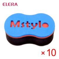 ELERA 10pcs/lot Magic Hair Braiding Machine Curler Sponge Brush for Natural Hair Styling Tools Hair Curler Hair Twist Sponge