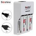 2 unids/set Soshine 9 V 9 V 6F22 650 mAh Li-Ion batería recargable + 9 V cargador inteligente con indicador LED