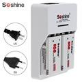 2pcs/set Soshine 9V 6F22 650mAh Li-ion Rechargeable Battery + 9V Smart Charger with LED Indicator